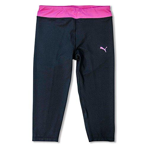 Puma Girls Yoga Capris - Schwarz / Rosa Capri Crop Pants - Gro? (Soft-capris Rosa)
