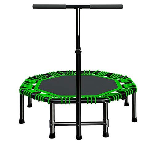 LKFSNGB Klappbares Haushaltstrampolin Leises elastisches Seil, das Sportausrüstung abnimmt Erwachsene Kinder Indoor und Outdoor Gym Trampolin 48 Zoll