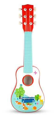 Small Foot 10725 Kindergitarre aus Buntem Holz, Im Kindgerechten Design Als Erstes Musikinstrument Geeignet, Fördert Die Musikalische Früherziehung