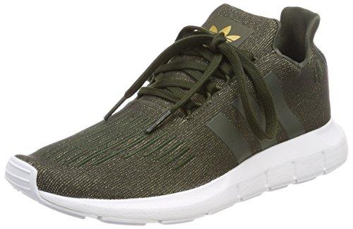 Adidas Swift Run W, Zapatillas de Deporte para Mujer, Marrón Carnoc/Ftwbla 000, 36 2/3 EU