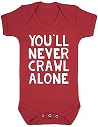 Nunca Te Crawl Alone Liverpool chaleco de bebé Pelele Babygrow Liverpool fútbol ventilador Novelty
