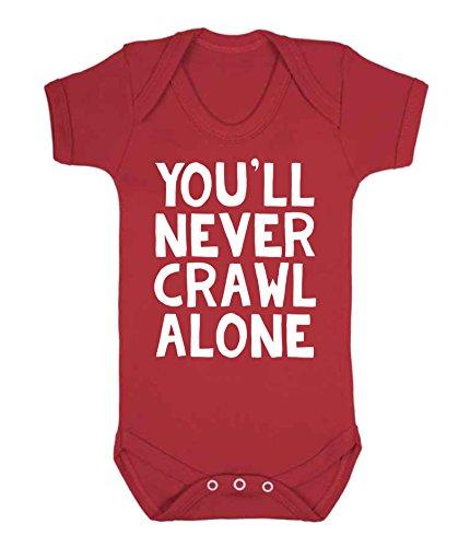 ff5212a09126d vous ne serez jamais Ramper Alone Liverpool Gilet de bébé Body Barboteuse Liverpool  Football Fan fantaisie