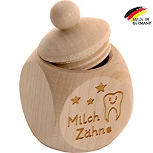 Spruchreif PREMIUM QUALITÄT 100% EMOTIONAL · Milchzahndose aus Holz mit Schraubdeckel und Gravur · Kinder Zahndose für…