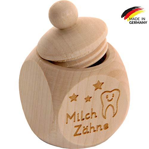 Spruchreif PREMIUM QUALITÄT 100{bdc40a4354838bf41603595e18c8c6fbfdab472ad5a55bf2392480d6fa109007} EMOTIONAL · Milchzahndose aus Holz mit Schraubdeckel und Gravur · Kinder Zahndose für Milchzähne zur Aufbewahrung perfekt als kleines Geschenk · Zahnfee