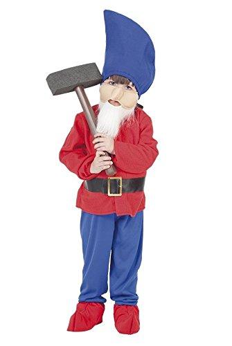 KINDERKOSTÜM - ZWERG - Größe 130-140 cm, Märchen sieben Zwerge Berge Schneewittchen Wichtel (Halloween Gnome Baby Kostüme)