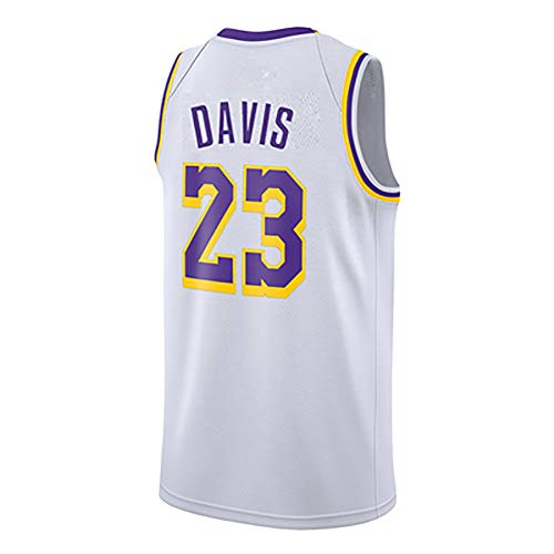 MMRRTIME Lebron James 23 Davis 23 Trikot Los Angeles Lakers Cavaliers Miami Basketball Uniformen Sporthemden Exklusive Limited Edition-White2-XS -