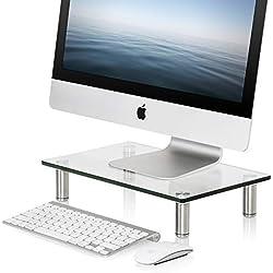 FITUEYES Support pour Réhausseur Ordinateur Portable PC avec Hauteur Réglable en Verre Trempé DT103801GC
