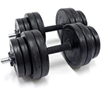 Bodymax Men's Dxe Rubber DB Kit Dumbbell Weights-Black, 30 kg