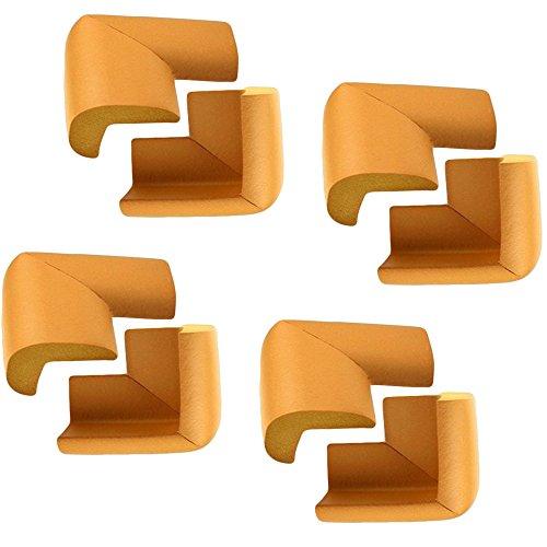 RotSale® 8er Set Gelb L-Form Universal Eckenschutz Kantenschutz Sicherheitspuffer Kindersicherung Stoßschutz