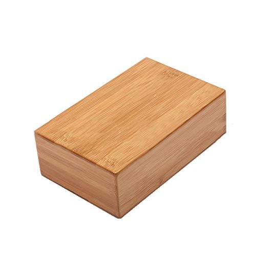 ACHAOHUIXI Yoga-Blöcke aus Bambus und Holz, Fitness-Hilfsblöcke aus Bambus-Yoga-Bausteinen for alle Arten von Bodenübungen, Yoga, Pilates, Meditation, Stretching (Farbe Bambus-block