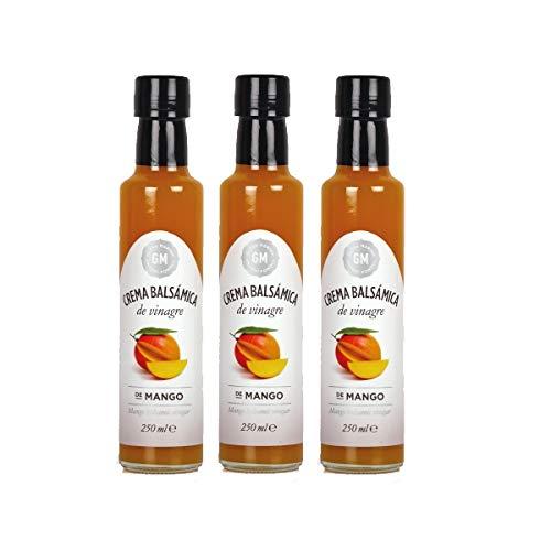 GLOSA MARINA 3er Paket *MANGO* Crema Balsámica de Mango - Balsamico Gourmet Essig Creme Mango (3 x 250ml)
