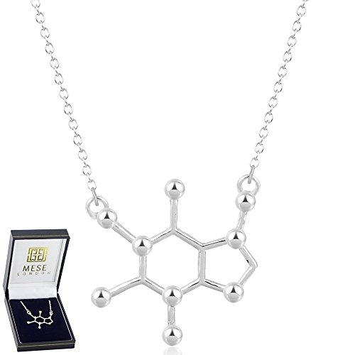 mese-london-ciondolo-con-struttura-chimica-molecola-caffeina-in-argento-scatola-regalo-elegante