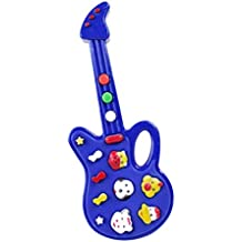 Fangfeen Plástico Mini Kids música eléctrica de la Guitarra de Dibujos Animados Bebé de Aprendizaje de
