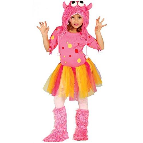 Rosa Monster - Kostüm für Mädchen Gr. 98 - 146, Größe:140/146