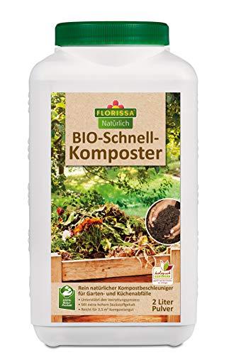 Florissa Natürlich BIO Schnellkomposter zur Beschleunigung der Verrottung von Gartenabfällen | vegan | 2 L für 3,5 m³ Frischkompost