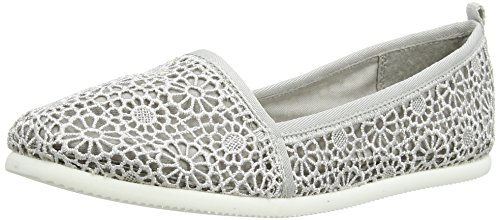 Tamaris 24618, Damen Slipper, Grau (GREY MACRAMEE 217), 40 EU
