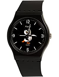 Vizion Analog Black Big Dial (APPY-The Dancing Penguin ) Cartoon Character Watch for Kids-8822-1-2
