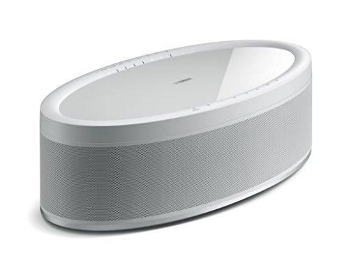 Yamaha MusicCast 50 Musikbox weiß - Multiroom Stereo-Lautsprecher kompatibel mit Alexa Sprachsteuerung - bequem Musik streamen - WLAN-Speaker mit raumfüllendem Klang