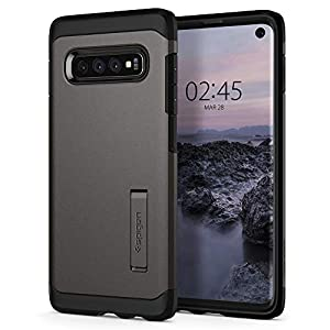 Spigen Tough Armor Galaxy S10 Case Cover with Extreme Shockproof Protection and Integrated Kickstand for Samsung Galaxy S10 (2019) - Gunmetal