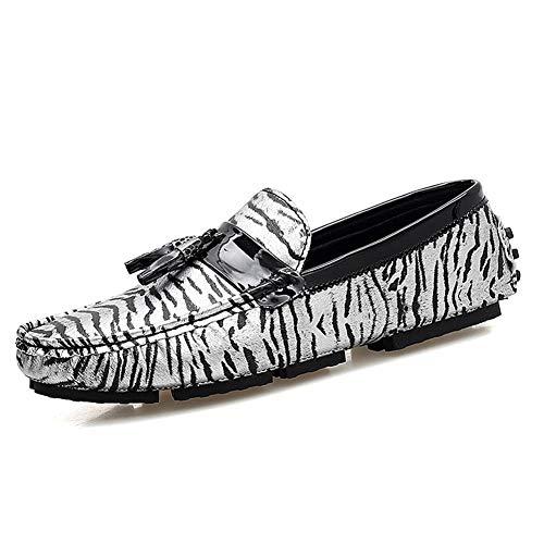SHENNANJI para Hombres Mocasines de conducción Zapatos Casuales Zapatillas de Cuero...