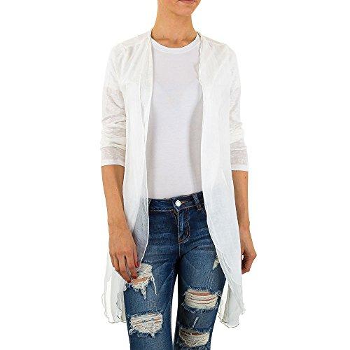 Chiffon Long Bluse Für Damen bei Ital-Design Weiß