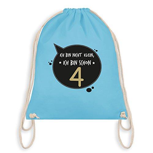 Geburtstag Kind - Ich bin nicht klein, ich bin schon 4 - Turnbeutel I Gym Bag Hellblau