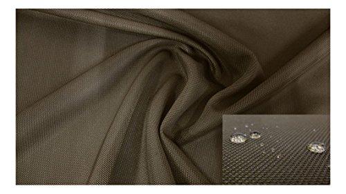 Fabrics-City DKLBRAUN-OLIV WASSERABWEISENDER 3D-OPTIK NETZSTOFF KETTENHEMD STOFF, 3674