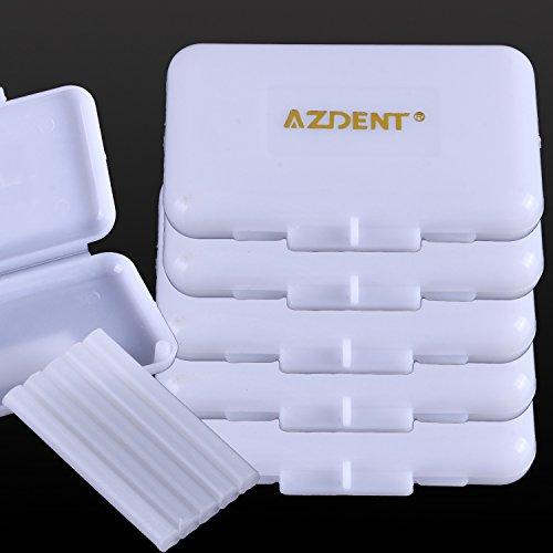 AZDENT®Orthodontische Relief Wachs Klammern Protector Primärer Geschmack Dental Wachs Streifen für Hosenträger Wearer- (10 Boxen enthalten)