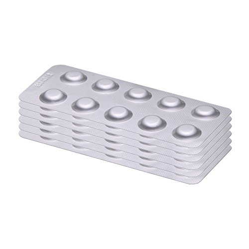 60 Testtabletten - 6 Streifen mit je 10 DPD1 (Chlor) Tabletten für Wassertester (Rapid, Farbabgleich) mit POWERHAUS24 Pflegefibel!