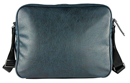 Bugatti Moto D Borsa a tracolla 38 cm compartimente portatile Laptop blau