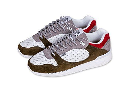 DJINNS - EasyRun Full Effect (atmosphere/white/olive) - Sneaker, EU 43