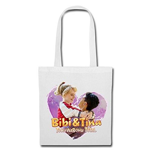 Spreadshirt Bibi Und TinaTohuwabohu Total Verliebt In Tarik Stoffbeutel Weiß