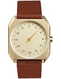 Slow Mo 07 Montre bracelet Mixte, Cuir, couleur: Marron