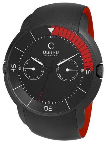 Obaku Harmony - V141GBBRB - Montre Homme - Quartz Analogique - Bracelet Cuir Noir