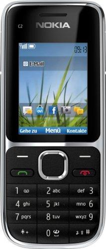 Nokia C2-01 Cellulare, schermo da 5,1 cm (2 pollici), fotocamera da 3,2 Megapixel, colore: Nero [importato da Germania]