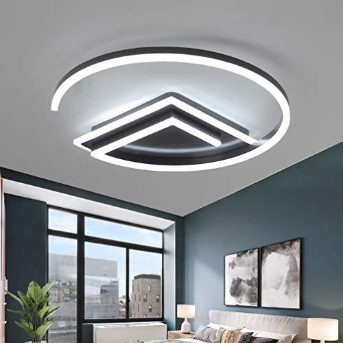 deckenleuchten Geometrie Design LED Lampe Modern Deckenleuchte Runden Decken Innenbeleuchtung Schwarz Deckenlampe Ø42cm*40cm*8cm 42W,3.levels.of.dimming ()