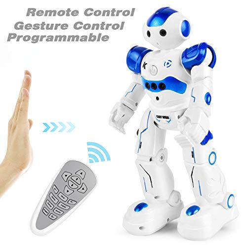 GotechoD Robot Jouet Enfant 3 6 Ans Garçon Fille,Programmable Robot Télécommandé pour Enfant, Cadeau Garçon Fille 4 5 7 8 Ans pour Anniversaire Noël Nouvel an(Bleu)