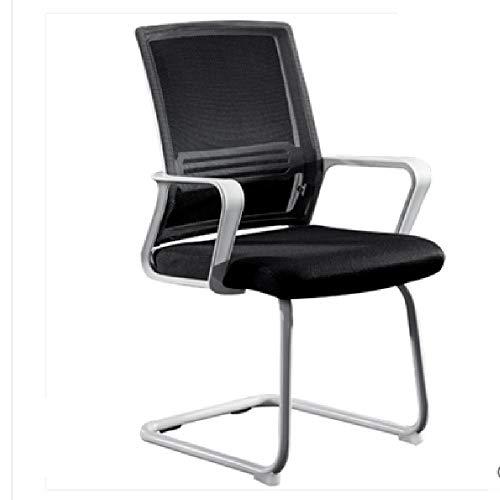 XLHJFDI Bürostuhl, Bürostuhl Ergonomischer Günstige Schreibtisch Stuhl, Ineinander greifen Computer Stuhl Lordosenstütze Moderne Executive-Adjustable Swivel, Schwarz