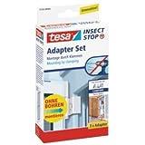 tesa 5 x Comfort-Adapterset für Fliegengitter-Alu-Rahmen weiß