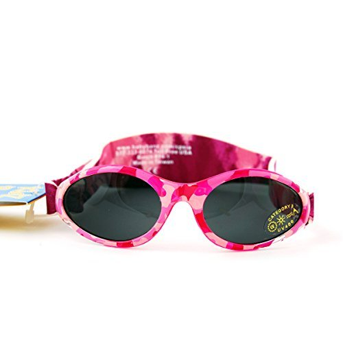 Adventure BanZ Baby Sunglasses, Pink Diva Camo, 0-2 Years Color: Pink Diva Camo Size: 0-2 Years