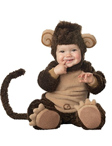 Affen-Kostüm für Babys mit lustigen Ohren - Premium 68/80 (6-12 Monate)
