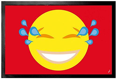Emoticon - Emoji Smiley Con Gli Strappi Di Gioia Zerbino (60 x 40cm)