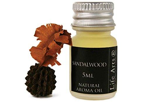 Profumo Aceite de aroma Madera de Sándalo Botella de 5cc Fragancia Natural (4cm x 2cm)