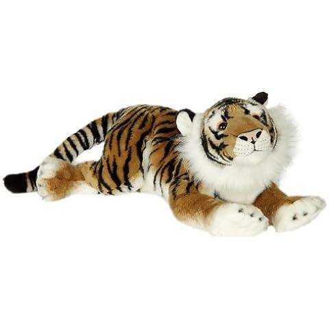Blickfänger 14148 - Peluche Jaquard Tiger Lying, 69 cm