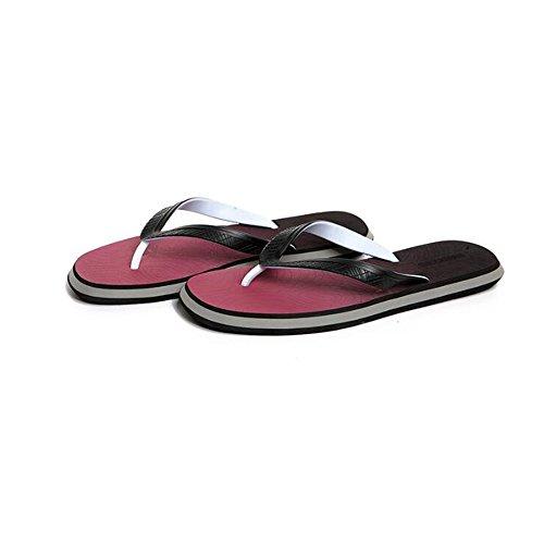 Pantofole da uomo Summer Simple Leisure Pantofole antiscivolo Scarpe da spiaggia con pizzico resistenti all'usura ( Colore : 2 , dimensioni : EU41/UK7.5-8/CN42 ) 4