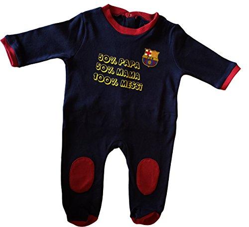 Barça Strampelanzug für Babys mit Motto Lionel Messi, offizielle Kollektion von FC Barcelona - 24 Monate (Fan-fußball-baby-strampelanzug)