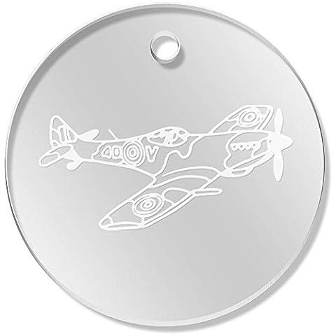 11 x 34mm 'Avion Spitfire' pendentif transparent (PN00040279)