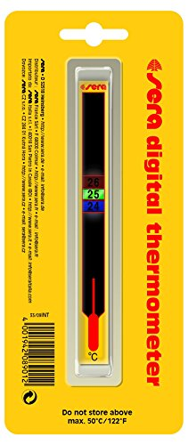 Sera 08901 Digialthermometer - Besonders Attraktives, digitales Klebethermometer