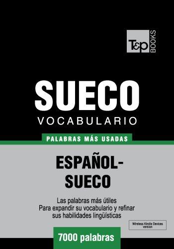 Vocabulario español-sueco - 7000 palabras más usadas por Andrey Taranov