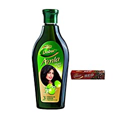 Dabur Amla Hair Oil, 450ml with Free Dabur Red Toothpaste, 50g